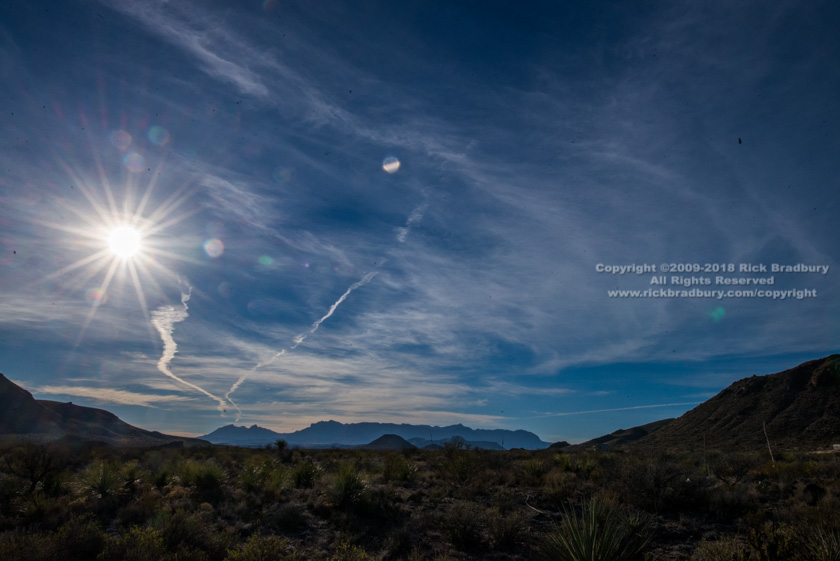 Contrails over the Chisos 2018-01-06