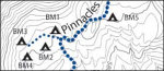 Trails Map of the Chisos Mountains